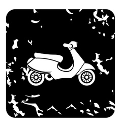Scooter icon grunge style vector