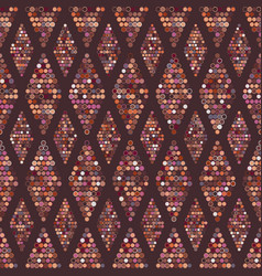seamless geometric pattern dots vector image