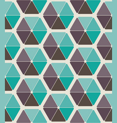Seamless pattern design with abstract hexagons vector
