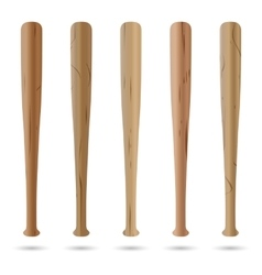Set of baseball bats vector