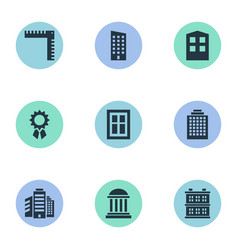Set of simple architecture vector
