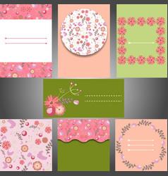 Set of templates for weddinginvitations cards vector