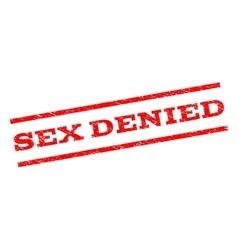 Sex denied watermark stamp vector
