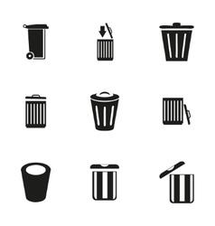 trash icon set vector image
