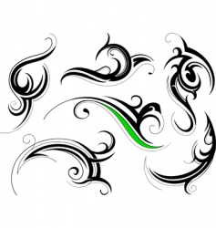 tribal swirls vector image vector image