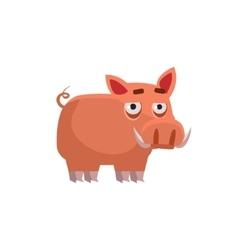 Wart hog funny vector