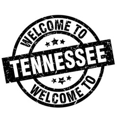 Welcome to tennessee black stamp vector