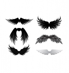 wing collection vector image vector image