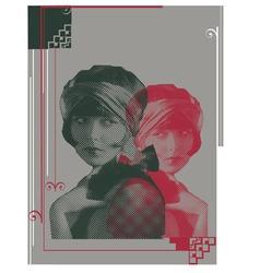 Women print vector