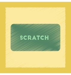 Flat shading style icon scratch card vector