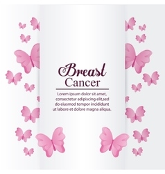 Butterfly breast cancer design vector