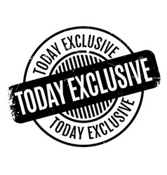 today exclusive rubber stamp vector image