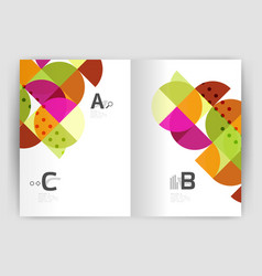 Modern geometric annual report cover vector