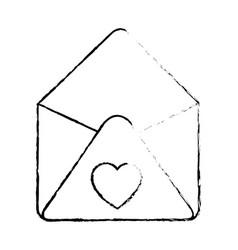 cute letter cartoon vector image