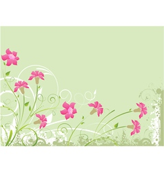 Floral green background vector
