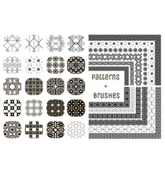 20 geometric patterns and 12 pattern vector image vector image