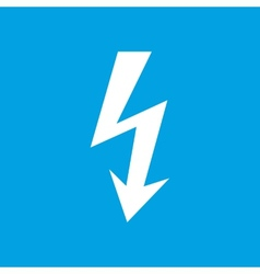 Lightning white icon vector