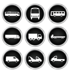 Commercial vehicle icons vector