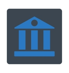 Bank flat smooth blue colors rounded button vector