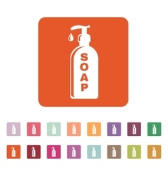 The liquid soap icon hand wash symbol flat vector