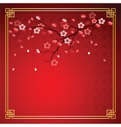 cherry blossom template2 vector image