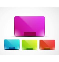 clean web boxes vector image