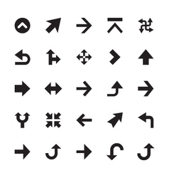 Mini arrows icons 3 vector