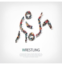 People sports wrestling vector