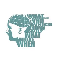 A head with brain vector