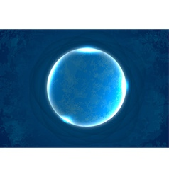Abstract glass circle vector image