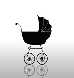 baby stroller ancient black vector image vector image