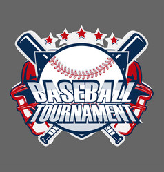 Baseball badge logo vector