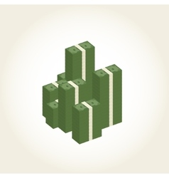 Big stacked pile of cash business and banking vector