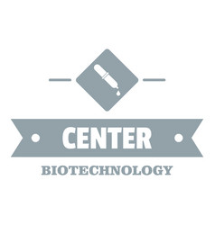 Biology center logo simple gray style vector