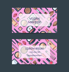 business card template for beauty brand or vector image