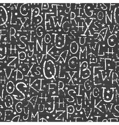 Chalkboard alphabet letters seamless pattern vector