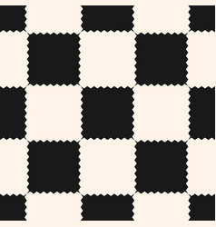 Checkered geometric pattern with jagged squares vector