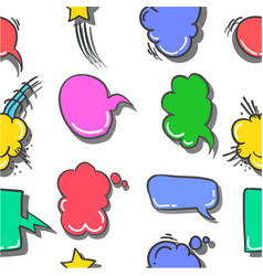 Collection text balloon style doodles vector