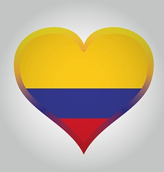colombian flag with its respective colors vector image