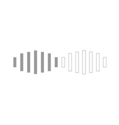 Digital signal grey set icon vector