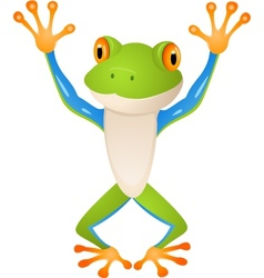 Funny Frog vector image vector image