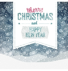 merry christmas greeting vintage vector image vector image