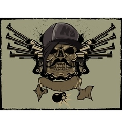 Ms skull vector