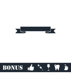 Ribbon icon flat vector image