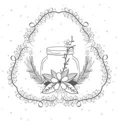 rustic wreath hand drawn vector image