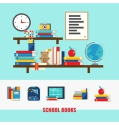School Books Concept vector image vector image