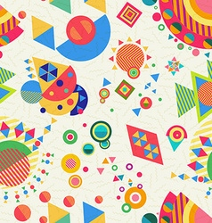 Seamless pattern geometry background colorful vector image vector image