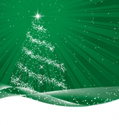 shiny green christmas tree vector image vector image