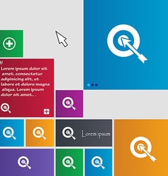 Target icon sign buttons modern interface website vector