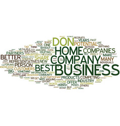 The best home business text background word cloud vector